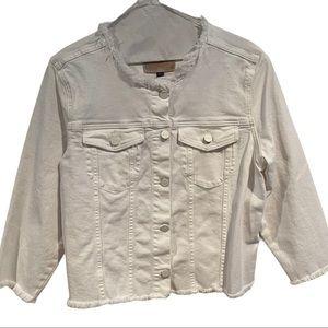 Sanctuary White Denim Jacket